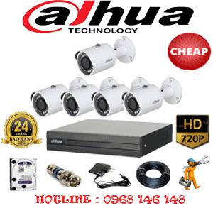 Lắp Đặt Trọn Bộ 5 Camera Dahua 1.0Mp (Dah-15200)-DAH-15200C