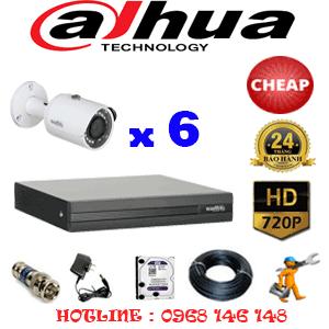 Lắp Đặt Trọn Bộ 6 Camera Dahua 1.0Mp (Dah-16200)-DAH-16200C