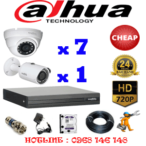 Lắp Đặt Trọn Bộ 8 Camera Dahua 1.0Mp (Dah-17112)-DAH-17112C