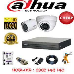 Lắp Đặt Trọn Bộ 2 Camera Dahua 2.0Mp Lite (Dah-21314)-DAH-21314C