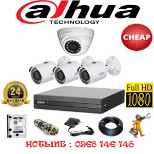 Lắp Đặt Trọn Bộ 4 Camera Dahua 2.0Mp Lite (Dah-21334)-DAH-21334C