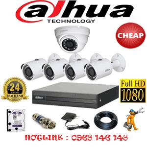 Lắp Đặt Trọn Bộ 5 Camera Dahua 2.0Mp Lite (Dah-21344)-DAH-21344C