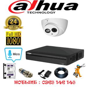 Lắp Đặt Trọn Bộ 1 Camera Dahua 2.0Mp (Dah-21500)-DAH-21500