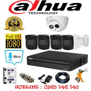 Lắp Đặt Trọn Bộ 5 Camera Dahua 2.0Mp (Dah-21546)-DAH-21546