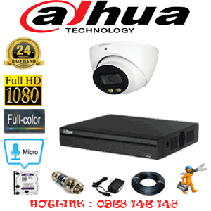 Lắp Đặt Trọn Bộ 1 Camera Dahua 2.0Mp (Dah-21700)-DAH-21700