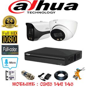 Lắp Đặt Trọn Bộ 2 Camera Dahua 2.0Mp (Dah-21718)-DAH-21718