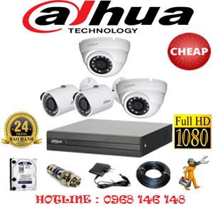 Lắp Đặt Trọn Bộ 4 Camera Dahua 2.0Mp Lite (Dah-22324)-DAH-22324C
