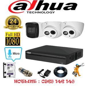 Lắp Đặt Trọn Bộ 3 Camera Dahua 2.0Mp (Dah-22516)-DAH-22516