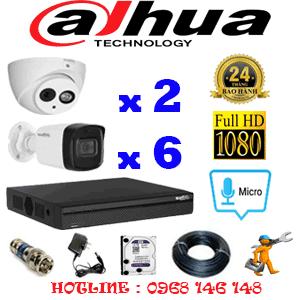 TRỌN BỘ 8 CAMERA DAHUA 2.0MP (DAH-22566)-DAH-22566