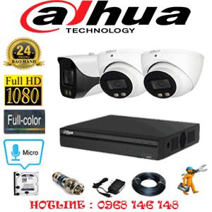 Lắp Đặt Trọn Bộ 3 Camera Dahua 2.0Mp (Dah-22718)-DAH-22718