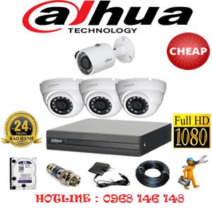 Lắp Đặt Trọn Bộ 4 Camera Dahua 2.0Mp Lite (Dah-23314)-DAH-23314C