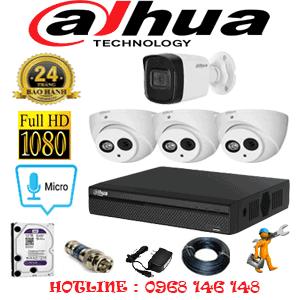 Lắp Đặt Trọn Bộ 4 Camera Dahua 2.0Mp (Dah-23516)-DAH-23516