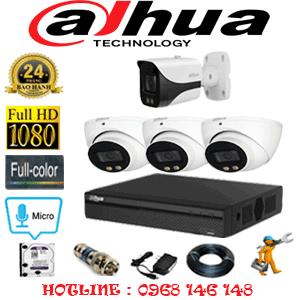 Lắp Đặt Trọn Bộ 4 Camera Dahua 2.0Mp (Dah-23718)-DAH-23718
