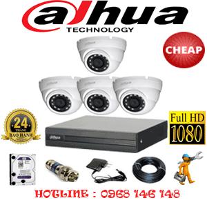 Trọn Bộ 4 Camera Dahua 2.0Mp Lite (Dah-24300)-DAH-24300C