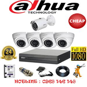 Lắp Đặt Trọn Bộ 5 Camera Dahua 2.0Mp Lite (Dah-24314)-DAH-24314C