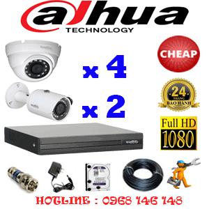 Lắp Đặt Trọn Bộ 6 Camera Dahua 2.0Mp Lite (Dah-24324)-DAH-24324C