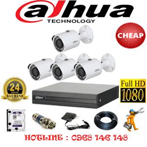 Lắp Đặt Trọn Bộ 4 Camera Dahua 2.0Mp Lite (Dah-24400)-DAH-24400C