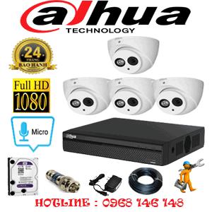Lắp Đặt Trọn Bộ 4 Camera Dahua 2.0Mp (Dah-24500)-DAH-24500