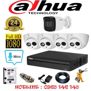 Lắp Đặt Trọn Bộ 5 Camera Dahua 2.0Mp (Dah-24516)-DAH-24516