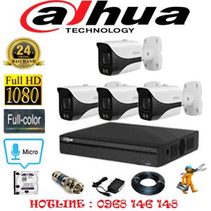 Lắp Đặt Trọn Bộ 4 Camera Dahua 2.0Mp (Dah-24800)-DAH-24800