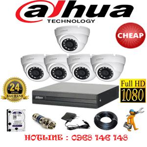 Lắp Đặt Trọn Bộ 5 Camera Dahua 2.0Mp Lite (Dah-25300)-DAH-25300C