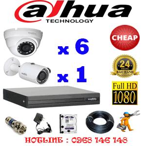 Lắp Đặt Trọn Bộ 7 Camera Dahua 2.0Mp Lite (Dah-26314)-DAH-26314C