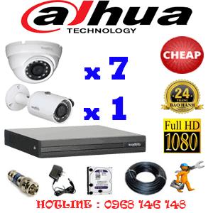 Lắp Đặt Trọn Bộ 8 Camera Dahua 2.0Mp Lite (Dah-27314)-DAH-27314C