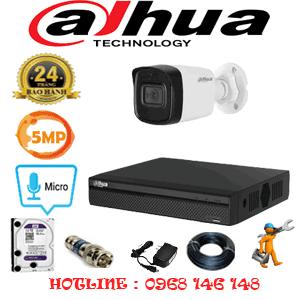 Lắp Đặt Trọn Bộ 1 Camera Dahua 5.0Mp (Dah-511000)-DAH-511000