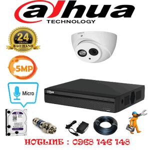 Lắp Đặt Trọn Bộ 1 Camera Dahua 5.0Mp (Dah-51900)-DAH-51900