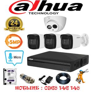 Lắp Đặt Trọn Bộ 4 Camera Dahua 5.0Mp (Dah-519310)-DAH-519310
