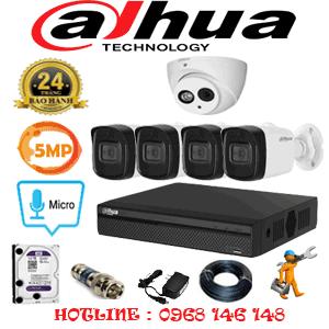 Lắp Đặt Trọn Bộ 5 Camera Dahua 5.0Mp (Dah-519410)-DAH-519410