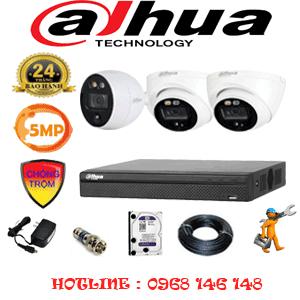 Lắp Đặt Trọn Bộ 3 Camera Dahua 5.0Mp (Dah-5213114)-DAH-5213114
