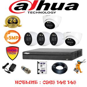 Lắp Đặt Trọn Bộ 5 Camera Dahua 5.0Mp (Dah-5213314)-DAH-5213314