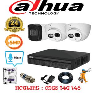 Lắp Đặt Trọn Bộ 3 Camera Dahua 5.0Mp (Dah-529110)-DAH-529110