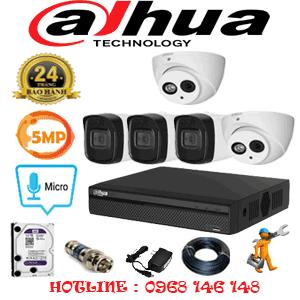 Lắp Đặt Trọn Bộ 5 Camera Dahua 5.0Mp (Dah-529310)-DAH-529310