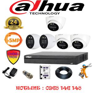 Lắp Đặt Trọn Bộ 5 Camera Dahua 5.0Mp (Dah-5313214)-DAH-5313214