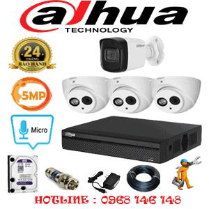 Lắp Đặt Trọn Bộ 4 Camera Dahua 5.0Mp (Dah-539110)-DAH-539110