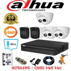 Lắp Đặt Trọn Bộ 5 Camera Dahua 5.0Mp (Dah-539210)-DAH-539210