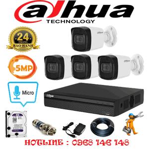 Lắp Đặt Trọn Bộ 4 Camera Dahua 5.0Mp (Dah-541000)-DAH-541000