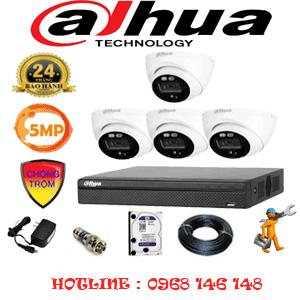 Lắp Đặt Trọn Bộ 4 Camera Dahua 5.0Mp (Dah-541300)-DAH-541300