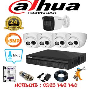 Lắp Đặt Trọn Bộ 5 Camera Dahua 5.0Mp (Dah-549110)-DAH-549110