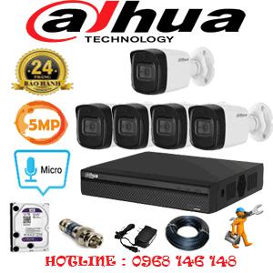 Lắp Đặt Trọn Bộ 5 Camera Dahua 5.0Mp (Dah-551000)-DAH-551000
