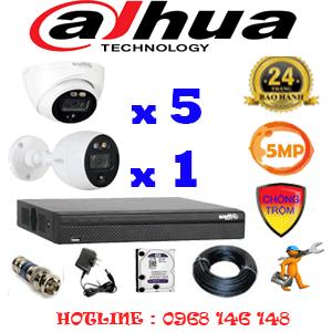 Lắp Đặt Trọn Bộ 6 Camera Dahua 5.0Mp (Dah-5513114)-DAH-5513114