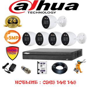 Lắp Đặt Trọn Bộ 5 Camera Dahua 5.0Mp (Dah-551400)-DAH-551400