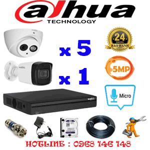 Lắp Đặt Trọn Bộ 6 Camera Dahua 5.0Mp (Dah-559110)-DAH-559110