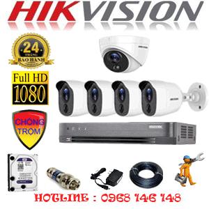 TRỌN BỘ 5 CAMERA HIKVISION 2.0MP (HIK-2117418)-HIK-2117418