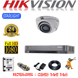 Lắp Đặt Trọn Bộ 1 Camera Hikvision 2.0Mp (Hik-212700)-HIK-212700