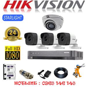 Lắp Đặt Trọn Bộ 4 Camera Hikvision 2.0Mp (Hik-2127328)-HIK-2127328