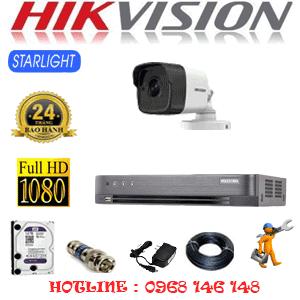 Lắp Đặt Trọn Bộ 1 Camera Hikvision 2.0Mp (Hik-212800)-HIK-212800