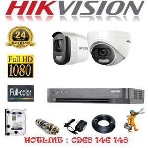 Trọn Bộ 2 Camera Hikvision 2.0Mp (Hik-21516)-HIK-21516